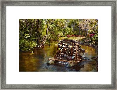 Waterwheel Framed Print by Noel Steele
