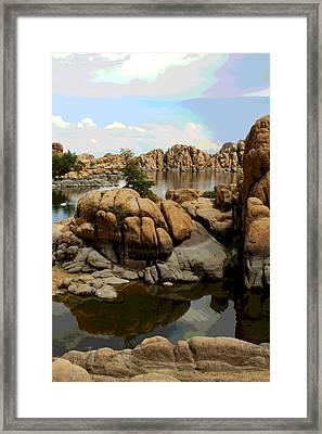 Watson Lake Reflections Framed Print by Greg Thiemeyer