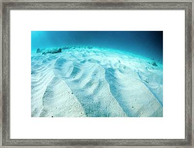 Wave Patterns On Sandy Sea Bed Framed Print by Georgette Douwma