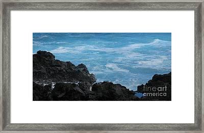 Wave - Vague - Ile De La Reunion - Reunion Island Framed Print by Francoise Leandre