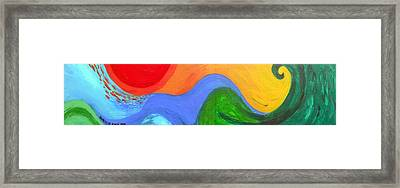 Wavelength Framed Print by Genevieve Esson