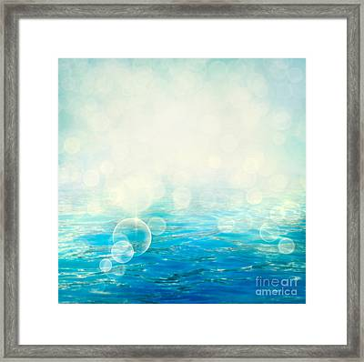 Waves In Motion Blur. Framed Print