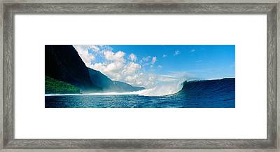 Waves In The Sea, Molokai, Hawaii Framed Print by Panoramic Images