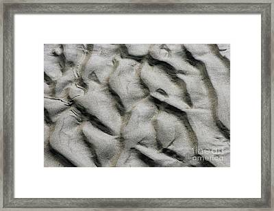 Waves Of The Tide Texture Framed Print by Jorgo Photography - Wall Art Gallery