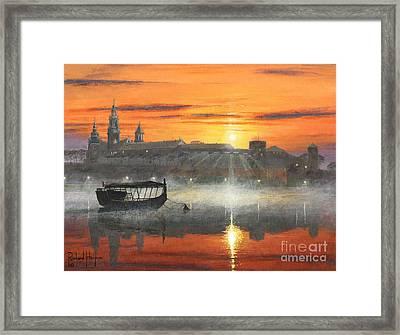Wawel Sunrise Krakow Framed Print