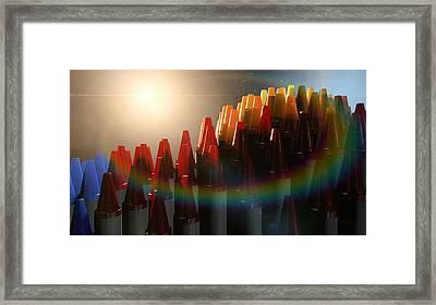 Wax Crayons Imagination Framed Print