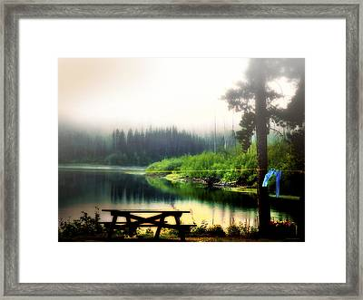 Way Out Of Town Framed Print by Barbara D Richards