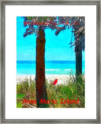 We Saved A Place For You Framed Print