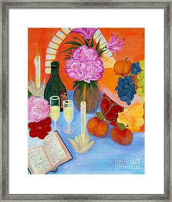 Framed Print featuring the painting Wealth And Comfort. Soul Collection by Oksana Semenchenko