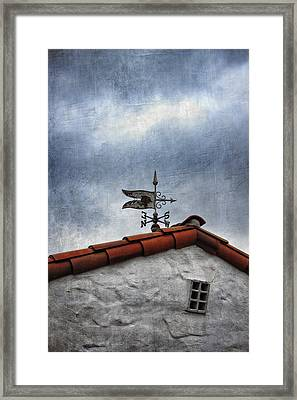 Weathered Weathervane Framed Print