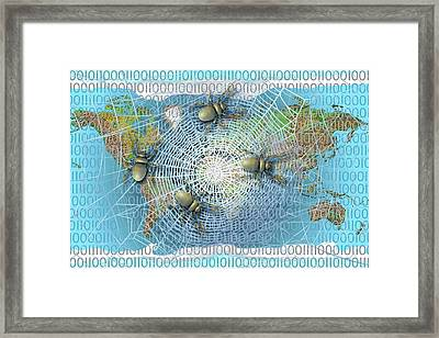 Web Crawlers Framed Print