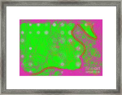 Framed Print featuring the digital art Web Of Love Iv by Ilona Svetluska