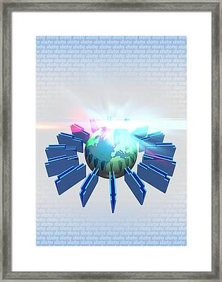 Web Technology Framed Print by Victor Habbick Visions