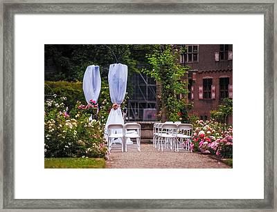 Wedding Arrangement In De Haar Castle. Utrecht Framed Print by Jenny Rainbow