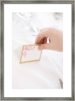 Wedding Table Setup Framed Print