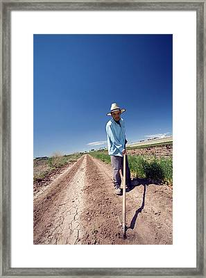 Weeding Newly Planted Crops Framed Print by Jim West