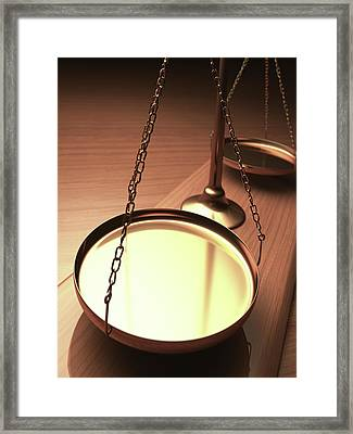 Weighing Scales Framed Print by Ktsdesign