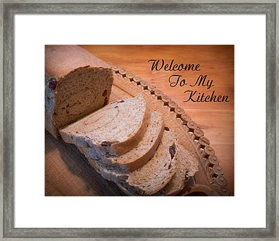 Welcome To My Kitchen Framed Print