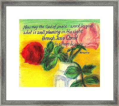 Well Pleasing Framed Print by Catherine Saldana