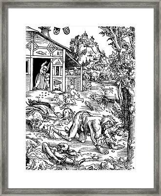 Werewolf, Legendary Creature Framed Print