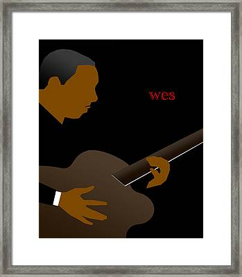 Wes Montgomery Framed Print by Victor Bailey