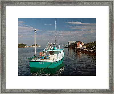 West Dover Evening Framed Print by George Cousins