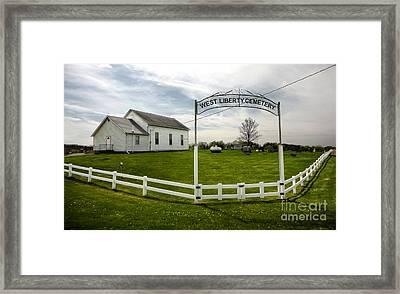 West Liberty Cemetery In Montezuma Iowa Framed Print by Gregory Dyer