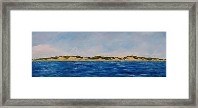 West Michigan Dunes Framed Print