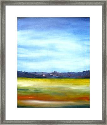 West Texas Landscape Framed Print