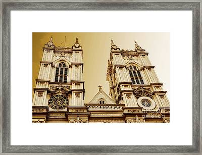 West Towers Of Westminster Abbey Framed Print by MaryJane Armstrong
