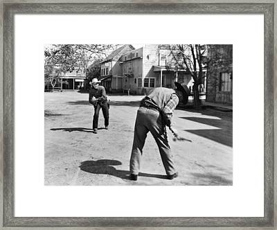 Western Film Shootout Framed Print