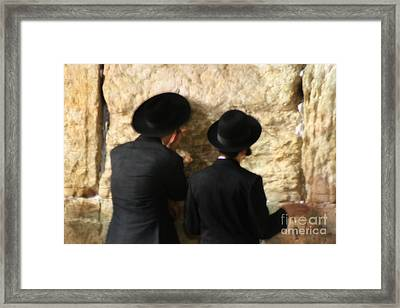 Western Wall  Framed Print by Doc Braham