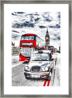 Westminster Bridge London Art Framed Print