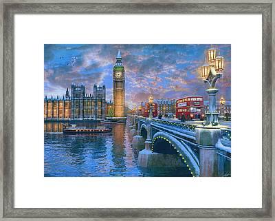 Westminster Christmas Framed Print by Dominic Davison