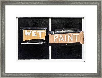Wet Paint Framed Print by Tom Gowanlock