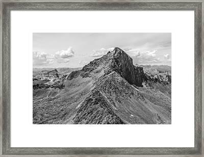 Wetterhorn Peak Framed Print