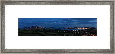 Weymouth At Night Framed Print by Ollie Taylor