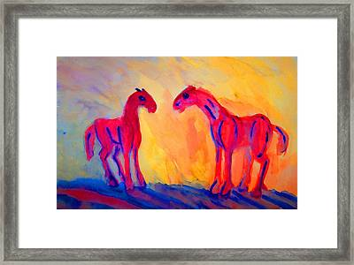 What Is Going On Is What's Going Wrong   Framed Print by Hilde Widerberg