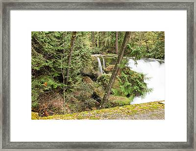 Whatcom Falls Framed Print