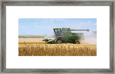 Wheat Harvest Framed Print by Jim West