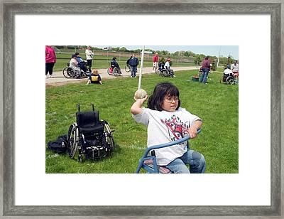 Wheelchair Athletics Framed Print by Jim West