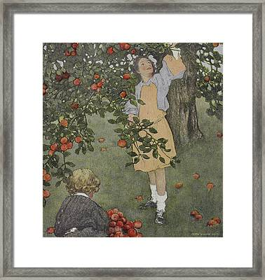 When Christmas Comes Around Framed Print by British Library