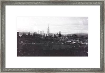 When The Lights Go Down In The City... Framed Print