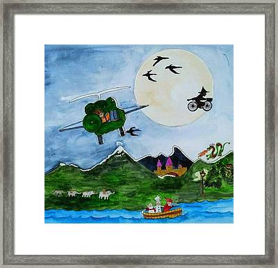 Where Did You Go On Your Vacation Framed Print