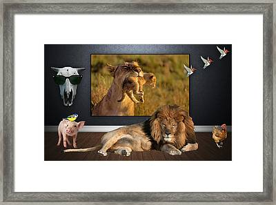 While The Lion Sleeps Tonight Framed Print
