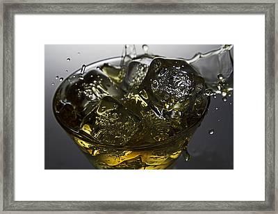 Whiskey Splash Framed Print by John Hoey