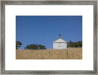 White Country Church Framed Print by David Litschel