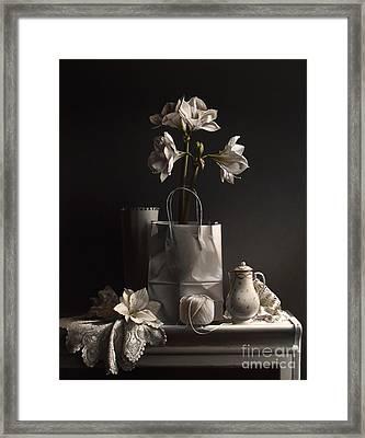 White On White Framed Print by Larry Preston