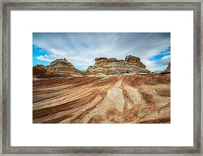 White Pocket Utah Framed Print
