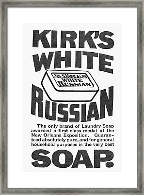 White Russian Soap Ad, 1887 Framed Print